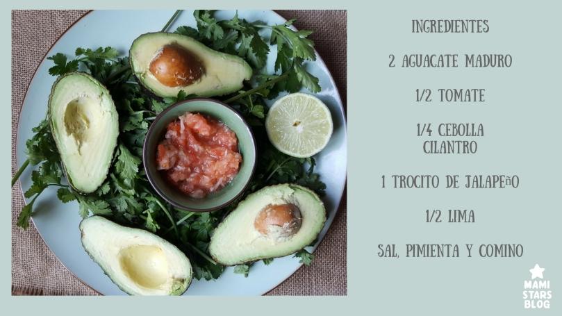 """Ingredientes receta """"antigua"""" de guacamole:"""