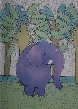 L' elefant surt a passejar