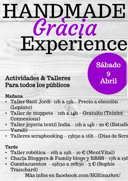 Handmade Gràcia Experience actividades