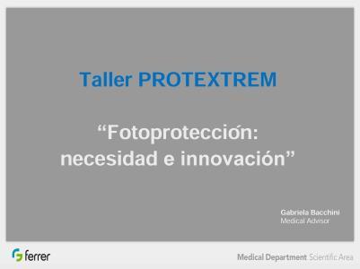Taller de protección solar Protextrem
