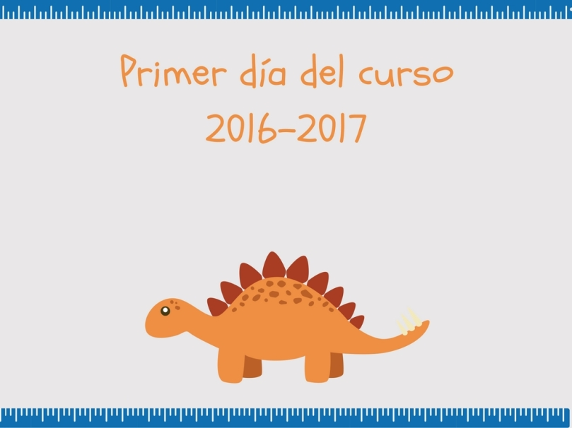 Lámina desagradable vuelta al cole Dino