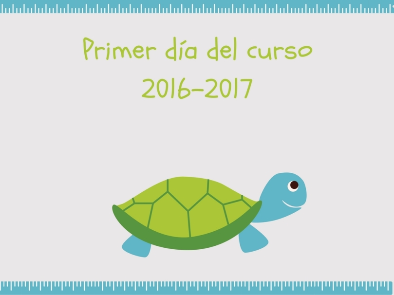 Lámina desagradable vuelta al cole tortuga