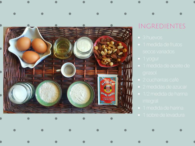 Bizcocho de frutos secos / Receta fácil /Receta para preparar con niños