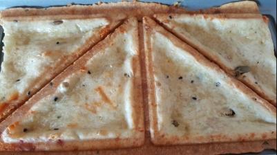 Pan de queso en sandwichera/Receta fácil/ Cocina para niños