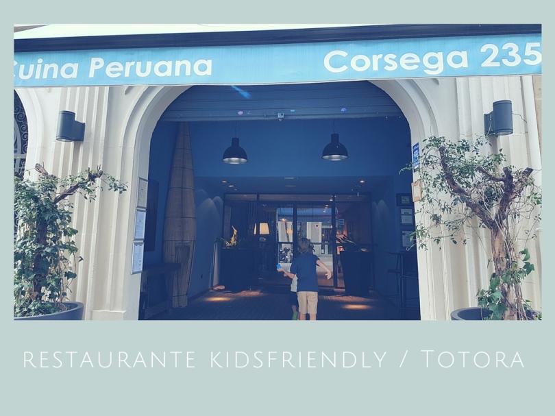 Restaurante kidsfriendly Totora/ comer con niños en barcelona