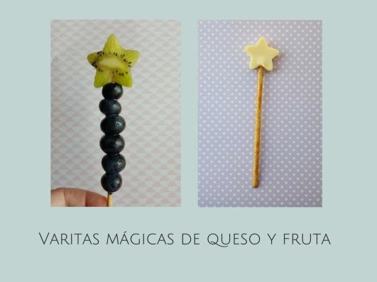 Varitas mágicas de fruta y queso / Receta fácil y divertida para niños