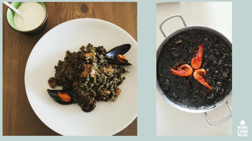 Arroz negro con sepia y gambas / receta