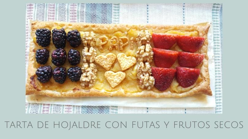 tarta de hojaldre con futas y frutos secos 7 Receta fácil