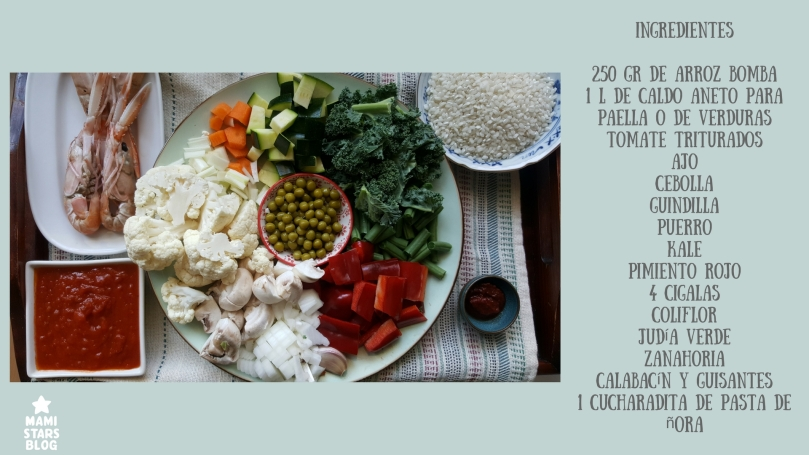 Paella de verduras exprés / Receta familiar