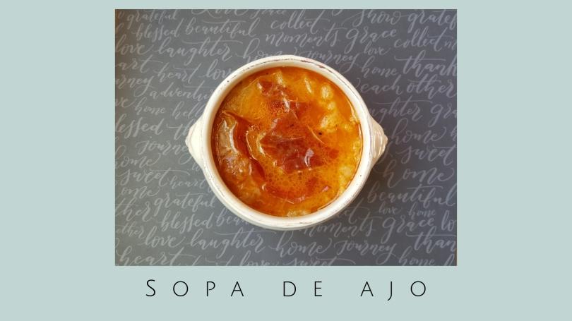 como se hace la sopa de ajo