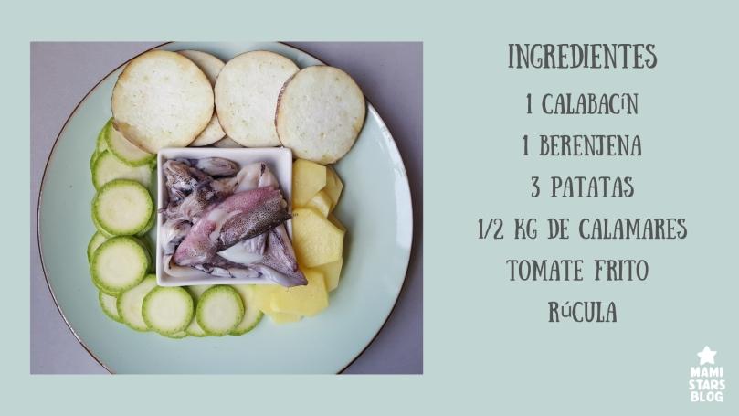 Receta Timbal de verduras y calamar